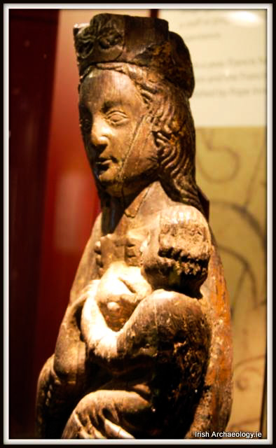 Sculpture of Madonna and Child from Waterford. Image by Irish Archaeology
